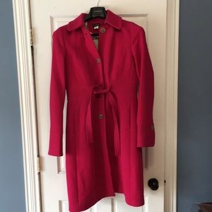 J. Crew Hot Pink Wool Coat Size 12 Tall